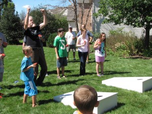 Picture of children and adults playing